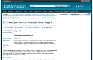 http://www.datamation.com/osrc/article.php/12068_3905421_4/60-Great-Open-Source-Developer-Tools.htm