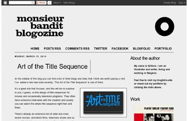 http://monsieurbandit.blogspot.com/2010/03/art-of-title-sequence.html