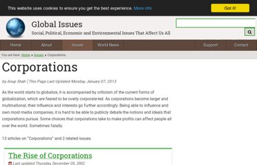 http://www.globalissues.org/issue/50/corporations