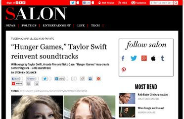 http://www.salon.com/2012/03/13/hunger_games_taylor_swift_reinvent_soundtracks/