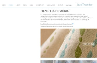 http://www.davidtrubridge.com/Designs/hemptech-fabric/