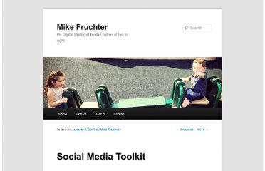 http://www.michaelfruchter.com/blog/2010/01/social-media-toolkit/