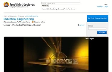 http://freevideolectures.com/Course/2367/Industrial-Engineering/1
