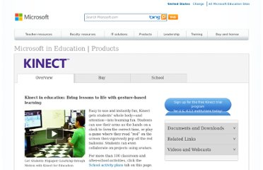 http://www.microsoft.com/education/en-us/products/Pages/kinect.aspx