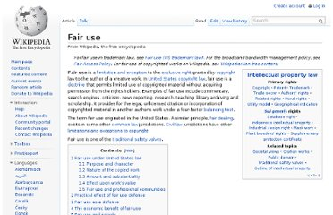 http://en.wikipedia.org/wiki/Fair_use#Fair_use_on_the_Internet