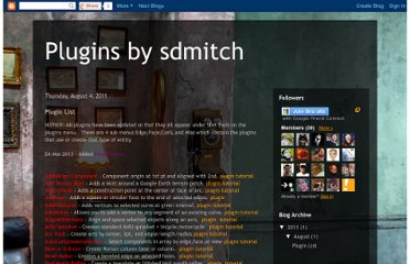 http://sdmitch.blogspot.com/2011/08/plugin-list.html