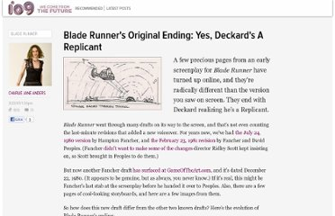 http://io9.com/5181048/blade-runners-original-ending-yes-deckards-a-replicant