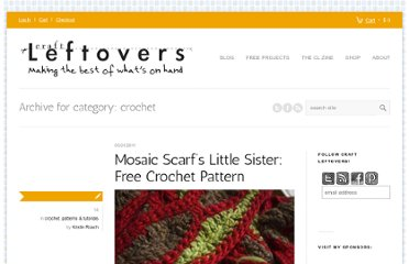 http://www.craftleftovers.com/category/projects/crochet-projects/