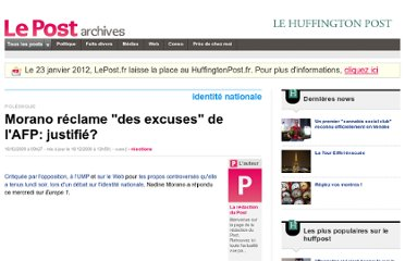 http://archives-lepost.huffingtonpost.fr/article/2009/12/16/1843056_morano-reclame-des-excuses-de-l-afp.html#xtor=EPR-275-[NL_732]-20091217-[politique]