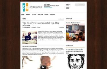 http://www.synconation.com/top-fives/the-top-five-instrumental-hip-hop-albums/