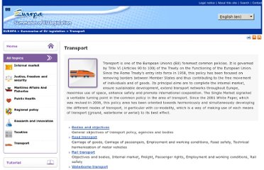 http://europa.eu/legislation_summaries/transport/index_en.htm
