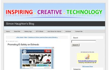 http://www.simonhaughton.co.uk/2011/08/promoting-e-safety-on-edmodo.html