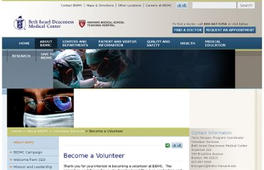 http://www.bidmc.org/AboutBIDMC/VolunteerServices/BecomeaVolunteer.aspx