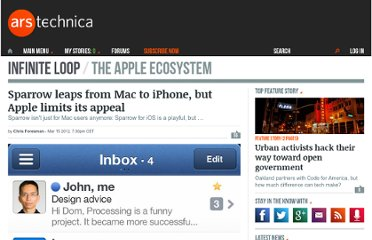http://arstechnica.com/apple/news/2012/03/sparrow-leaps-from-mac-to-iphone-but-apple-limits-its-appeal.ars