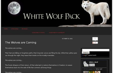 http://www.whitewolfpack.com/2011/10/wolves-are-coming.html
