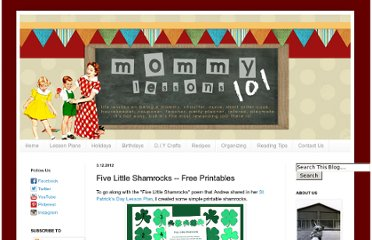 http://www.mommylessons101.com/2012/03/five-little-shamrocks-free-printables.html