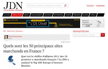http://www.journaldunet.com/ebusiness/commerce/top-50-e-commerce-2011.shtml