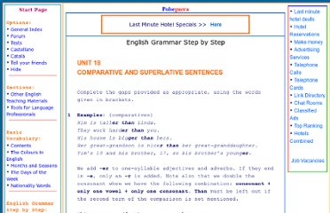 http://www.polseguera.org/advanced_english_grammar/comparative_sentences.php