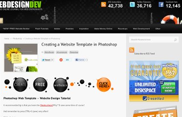 http://www.webdesigndev.com/photoshop/creating-a-website-template-in-photoshop