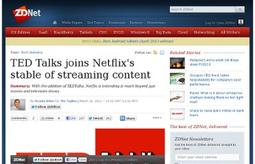 http://www.zdnet.com/blog/gadgetreviews/ted-talks-joins-netflixs-stable-of-streaming-content/29044