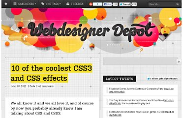 http://www.webdesignerdepot.com/2012/03/10-of-the-coolest-css-css3-effects-10-of-the-coolest-css-css3-effects-10-of-the-coolest-css-and-css3-effects/