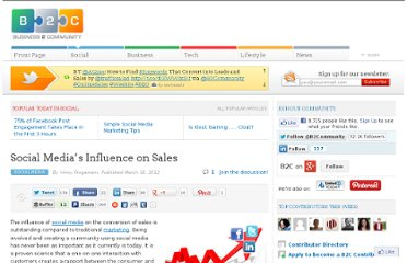 http://www.business2community.com/social-media/social-medias-influence-on-sales-0147795