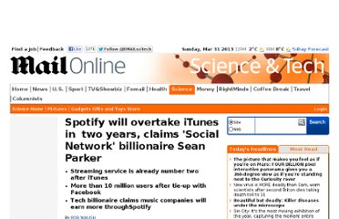 http://www.dailymail.co.uk/sciencetech/article-2115792/Spotify-overtake-iTunes-years-claims-Social-Network-Facebook-billionaire-Sean-Parker.html