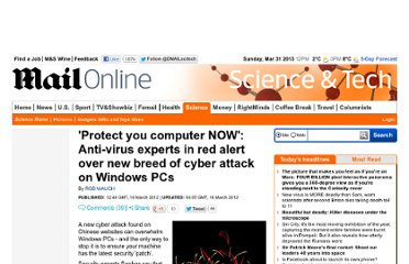 http://www.dailymail.co.uk/sciencetech/article-2115895/Patch-copy-Windows-NOW-warn-anti-virus-experts-new-hi-tech-worm-Chinese-websites.html