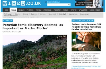 http://www.wired.co.uk/news/archive/2011-02/28/wari-tombs-peru-machu-picchu