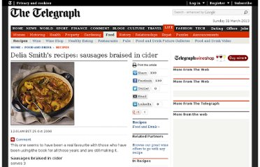 http://www.telegraph.co.uk/foodanddrink/recipes/3346319/Delia-Smiths-recipes-sausages-braised-in-cider.html