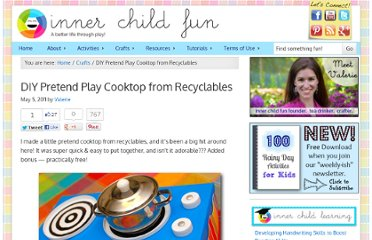 http://innerchildfun.com/2011/05/diy-pretend-play-cooktop-from-recylcables.html