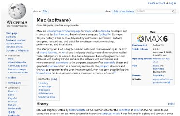 http://en.wikipedia.org/wiki/Max_(software)