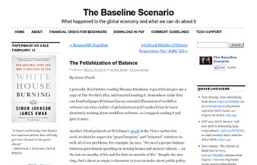http://baselinescenario.com/2012/03/15/fetishization-of-balance/#more-9979