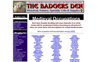 http://www.badgersden.com/MT/MdvlOccupation.htm