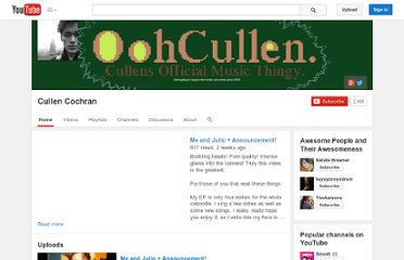 http://www.youtube.com/user/OohCullen