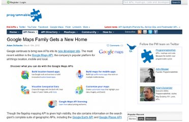 http://blog.programmableweb.com/2012/03/16/google-maps-family-gets-a-new-home/