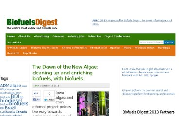 http://www.biofuelsdigest.com/bdigest/2011/10/18/the-dawn-of-the-new-algae-cleaning-up-and-enriching-biofuels-with-biofuels/
