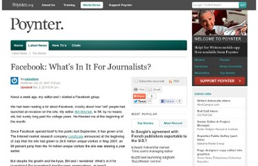 http://www.poynter.org/latest-news/top-stories/83630/facebook-whats-in-it-for-journalists/