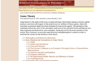 http://plato.stanford.edu/entries/game-theory/#Mot