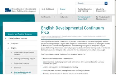 http://www.education.vic.gov.au/studentlearning/teachingresources/english/englishcontinuum/default.htm