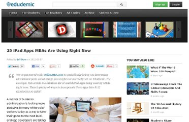 http://edudemic.com/2012/03/25-ipad-apps-mbas-are-using-right-now/