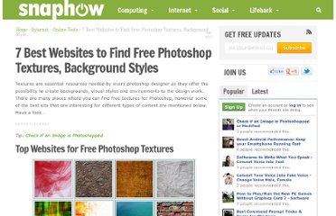 http://www.snaphow.com/4865/7-best-websites-to-find-free-photoshop-textures-background-styles