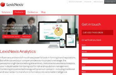 http://www.lexisnexis.co.uk/store/uk/LexisNexis-Analytics/product