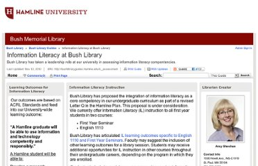 http://bushlibraryguides.hamline.edu/IL_assessment