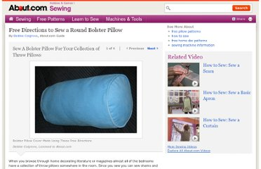 http://sewing.about.com/od/homedecprojects/ss/Free-Directions-To-Sew-A-Round-Bolster-Pillow.htm