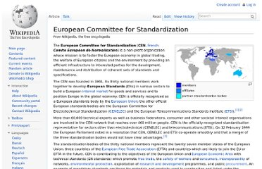 http://en.wikipedia.org/wiki/European_Committee_for_Standardization