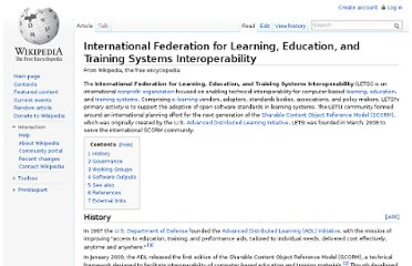 http://en.wikipedia.org/wiki/International_Federation_for_Learning,_Education,_and_Training_Systems_Interoperability