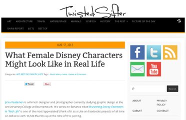 http://twistedsifter.com/2012/03/real-life-female-disney-characters/