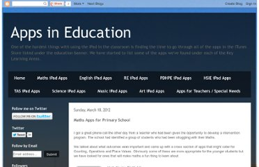 http://appsineducation.blogspot.com/2012/03/maths-apps-for-primary-school.html