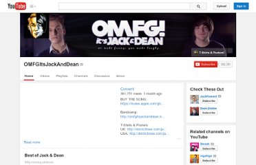 http://www.youtube.com/user/OMFGItsJackAndDean